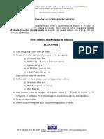 PIANOFORTE - Programma ammissione propedeutici