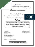 Couverture du risque de change et son impact sur le taux de change en Algérie