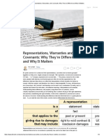 Representations, Warranties and Covenants_ Why They're Different and Why It Matters.pdf