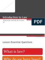 Introduction to Law - What are laws