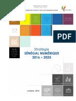 Stratégie Sénégal Numérique 2016-2025