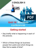 Unit 14 - Business conferences