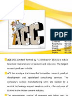 Acc Ltd Company Analysis