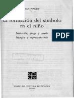 Piaget - La formación del símbolo en el niño