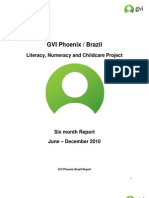Project Report GVI Phoenix Brazil Report 2010