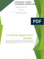 La reforma agraria en el Ecuador