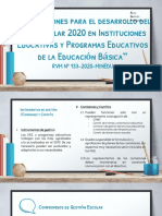 Orientacion Del Año Escolar 2020