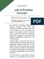 I Speak of Freedom(excerpt)
