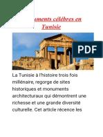 Monuments célébres en Tunisie