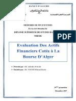 AMARA Walid Evaluation des actifs financiers cotés à la Bourse d'Alger.pdf