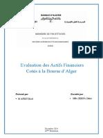 Mémoire Afrit Riad DSEB 16 - Evaluation des actifs financiers cotés à la bourse d'Alger.pdf