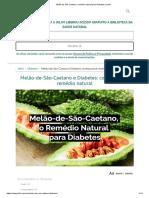 Melão de São Caetano_ remédio natural para Diabetes _ Jolivi
