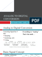 Analog to digital conversion (not yet finish)