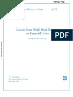 World Bank - Financial Crisis