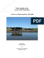 Lewis Creek Water Quality Report, February 2011
