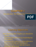Chp 1 - Introduction - The Nature of Leadership