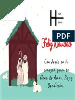 Rojo Verde Hojas Travieso o Bueno Navidad Tarjeta.pdf