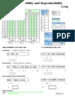 Gage R&R Datasheet