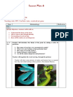 The Snake trying Lesson Plan 1