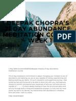 Deepak Chopra's 21 Day Abundance Meditation course - WEEK 1 — The Village Foundation