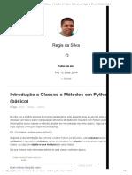 Introdução a Classes e Métodos em Python (básico)
