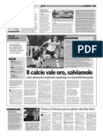 """""""Il calcio vale oro, salviamolo"""""""