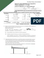 Teste F11 Mecânica n.º 2 Exames Nacionais