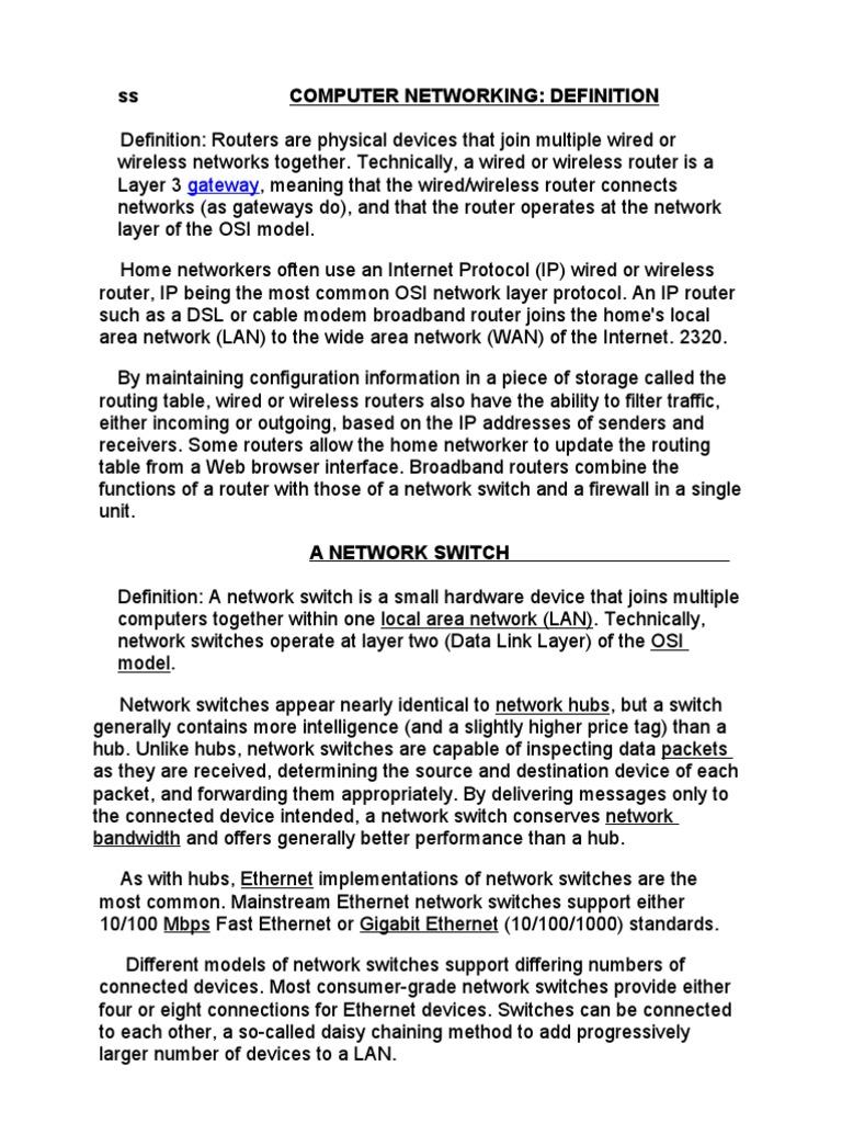 COMPUTER NETWORKIN1 | Network Switch | Computer Network