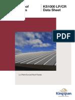 Kingspan Lo-Pitch Roof Panel KS1000 LP-CR Datasheet 112013 NZ En