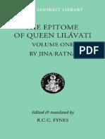 Līlāvatīsāra of Jinaratna (The Epitome of Queen Lilavati) v.1.pdf