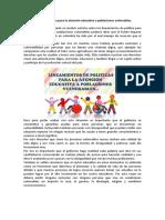 Lineamientos de política para la atención educativa a poblaciones vulnerables