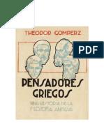 GOMPERZ THEODOR - Pensadores Griegos - Libro 2