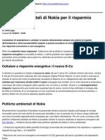 Politiche Ambient Ali Di Nokia Per Il Risparmio Energetico - 2010-10-21
