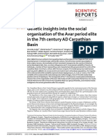 Genetic insights into the social organisation of the Avar period elite in the 7th century AD Carpathian Basin