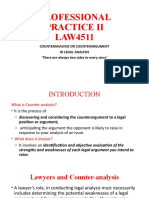 MASTERING COUNTER-ARGUMENTS IN LEGAL ANALYSIS