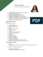 HOJA DE VIDA ANA GABRIELA SPERANDIO CONTRERAS