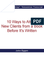 The top 10 ways to attract new clients from a book before it's written