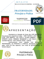 Fraternidade Principio e Pratica - 20.12.2020