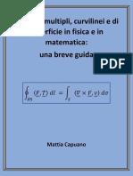 Integrali multipli, curvilinei e di superficie in fisica e in matematica