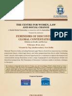 Global Feminisms Conference JGLS-ANU