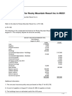 Refer to the Data for Rocky Mountain Resort Inc In