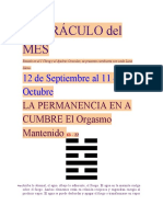 EL ORÁCULO del MES 12 de Septiembre al 11 de Octubre 2011