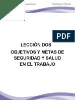 LECCIÓN DOS OBJETIVOS Y METAS DE SEGURIDAD Y SALUD EN EL TRABAJO.pdf
