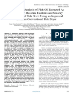 Quantitative Analysis of Fish Oil Extracted as Deduced by Moisture Contents and Sensory Evaluation of Fish Dried Using an Improved Biomass Convectional Fish Dryer