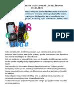 CÓDIGOS SECRETOS Y OCULTOS DE LOS TELÉFONOS CELULARES