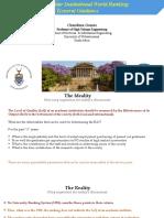 Enhancement of World University Ranking-General Guidance-Chandima Gomes