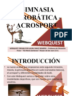 GIMNASIA ACROBÁTICA - ACROSPORT