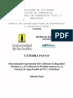 03-Determinación experimental de ks y km en tuberías de PVC y Polietileno