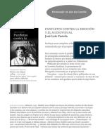 Ficha comercial Panfletos contra la emoción y el audiovisual