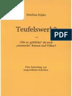 Köpke, Matthias - Teufelswerk, 1. Auflage,